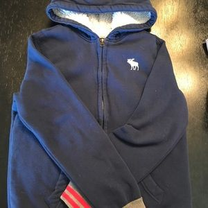 Boys navy A&F cozy hoody. Worn less than 5 times.